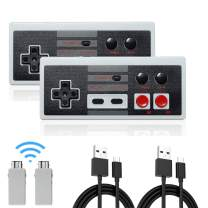 NES Classic Rechargeable Controller 2 Pack, Kyerivs Wireless Gamepad for Nintendo Mini NES Classic Edition, Wireless Joypad & Gamepads Controller