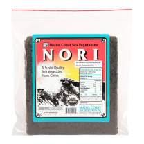 Nori Sushi Sheets (Raw)   50 Count   Organic Seaweed Wraps for Making Sushi   Maine Coast Sea Vegetables