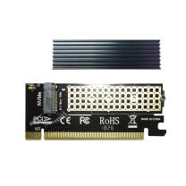 GLOTRENDS M.2 PCIE NVME Adapter Card with Full Covering Aluminum Heatsink for PC/2U High Server, PCIE GEN3 Full Speed (PA05-HS)