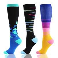 Compression Socks for Women & Men (20-30mmHg) - Athletic Compression Stockings Fit Sports, Nurses