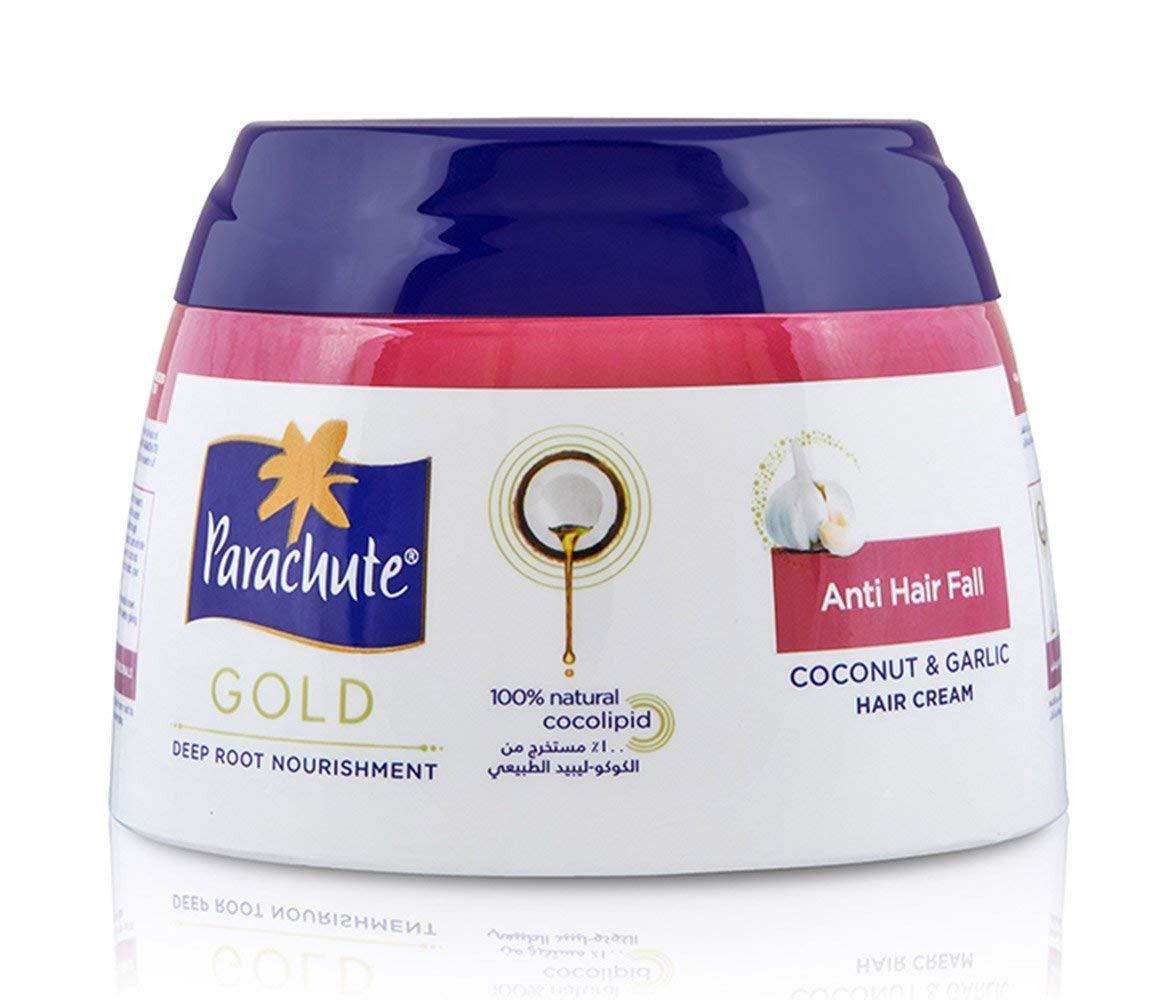 Parachute Gold Hair Cream Anti Hair Fall - 4.7 fl.oz. (140ml) - Coconut & Garlic Hair Care Cream for Men