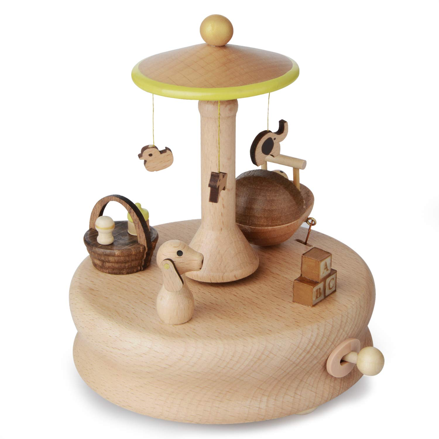 Takefuns Wooden Music Box, Musical Box Smart Castle Toy Decoration Birthday Present for Lover Friends and Children Plays Castle in The Sky Song