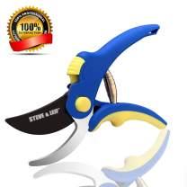 "Steve & Leif 8"" Bypass Pruning Shear,Heavy Duty Hand Bypass Pruners,Professional Garden Shears,Sharp Pruning Scissors,Garden Scissor,Garden Clippers"