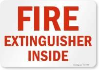 "SmartSign ""Fire Extinguisher Inside"" Label | 7"" x 10"" Laminated Vinyl"