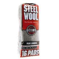 Steel Wool, 16 pad, Coarse Grade #3, Rhodes American, Paint Removal