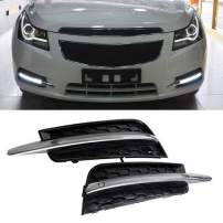 iJDMTOY Switchback LED Daytime Running Light Kit Compatible With 2011-2014 Chevrolet Cruze, Mercedes W204 Style White/Amber Exact Fit 10W DRL Bezel Assembly