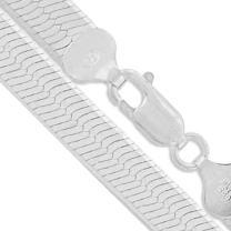 Sterling Silver Flexible Magic Herringbone Necklace 2.7mm-14.6mm Solid 925 Italian Chain