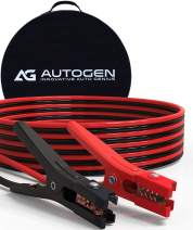 Jumper Cables AUTOGEN 4 Gauge x 20Ft 600AMP Flexible Heavy Duty Booster Cables with Professional Grade Clamps - UL Listed