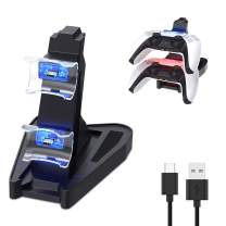 Chasdi PS5 Controller Charger USB Charging Station Dock for Dualsense Controllers