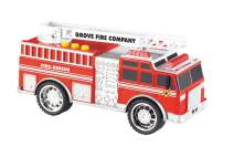 XDRONE Grooyi Toy Fire Truck for Boys and Girls - Fire Truck Push Toy for Kids and Toddlers - Flashing Lights, Siren