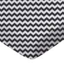 SheetWorld Fitted Sheet (Fits BabyBjorn Travel Crib Light) - Black Chevron Zigzag - Made In USA