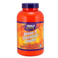 NOW Sports Nutrition, Amino-9 Essentials Powder, Enhanced Protein Synthesis, Amino Acids, 330-Grams