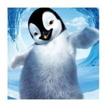 MXJSUA DIY 5D Diamond Painting by Number Kits Full Round Drill Rhinestone Picture Art Craft Home Wall Decor Dancing Penguin 12x12In