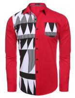 COOFANDY Mens Business Dress Shirt Slim Fit Long Sleeve Button Down Shirt