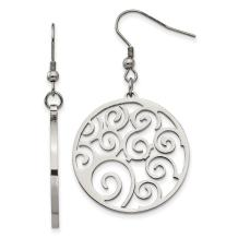 Stainless Steel Swirl Drop Dangle Chandelier Earrings Fashion Jewelry For Women Valentines Day Gifts For Her