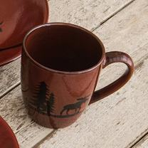 BLACK FOREST DECOR Moose Lodge Stoneware Mug