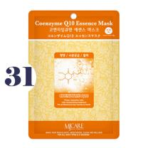 Pack of 31, The Elixir Beauty MJ Korean Cosmetic Full Face Collagen Coenzyme Q10 Essence Mask Pack Sheet for Vitality, Clarity, Mosturizing, Relaxing