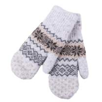 Women's Knitted Mittens Gloves Wool Knit Thick Unisex Winter Classic Solid Color