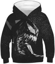 FLYCHEN Boy's 3D Fashion Printed Hoodies Unisex Sweatshirt Teens Hooded Pullover