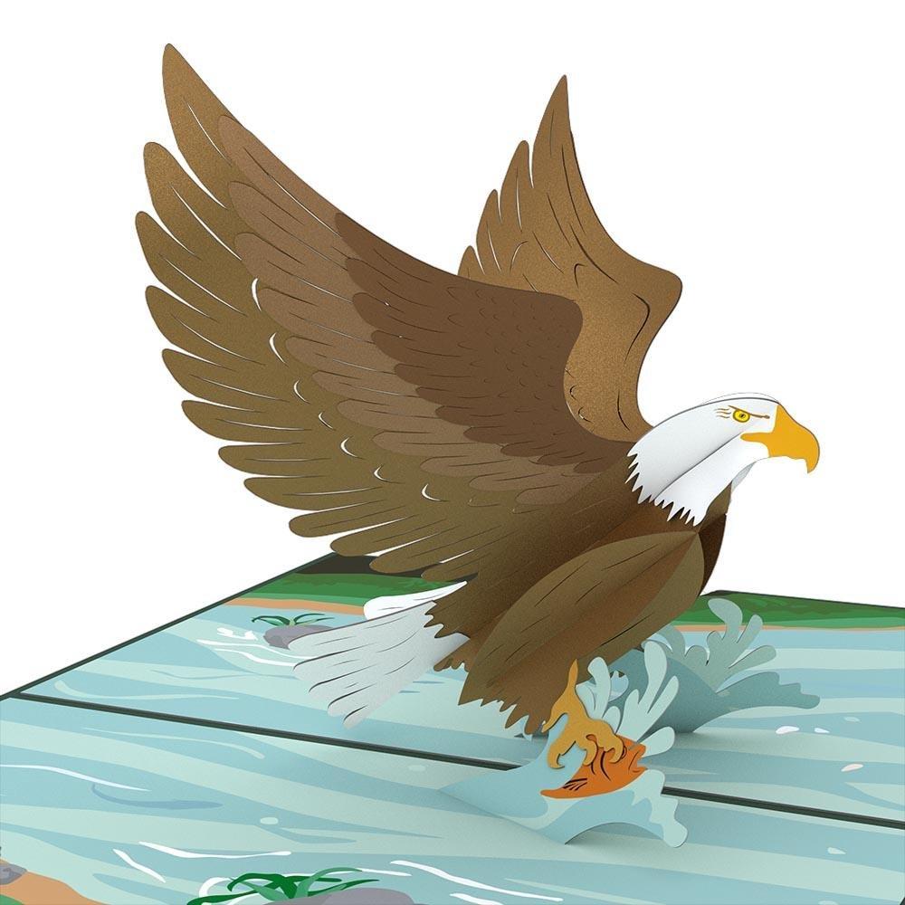 Lovepop Eagle Pop Up Card, 3D Card, Father's Day Card, Birthday Card, Patriotic Card, Animal Card, Bird Card, Nature Card, Great Outdoors Card