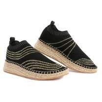 Negash Women's Fashion Walking Wedges Queen Jute Mesh Slip-On Ladies Casual Shoes