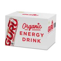 GURU Lite Organic Low Calorie Energy Drink with Green Tea, 12 Ounce (Pack of 12), Stevia & Monk Fruit …
