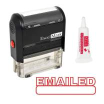 EMAILED Self Inking Rubber Stamp - Red Ink (Stamp Plus 5cc Refill Ink)
