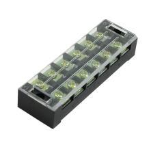 uxcell Bronze Tone 6 Position Screw Barrier Strip Terminal Blocks 600V 45A