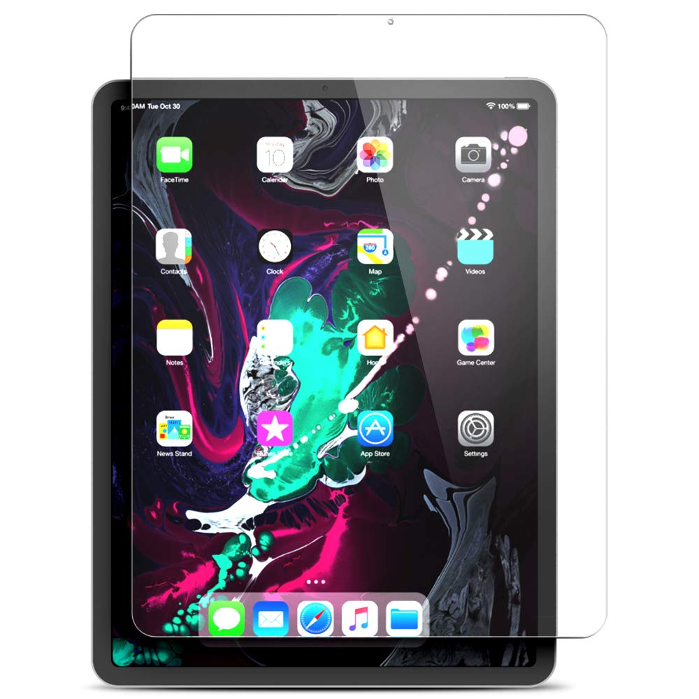 """Maxboost Screen Protector for Apple iPad Pro 11-inch 2018 (Clear, 1 Pack) Tempered Glass Screen Protector with Advanced Touch Sensitive HD Clarity Compatible with iPad Pro 2018 11"""" (1-Pack)"""
