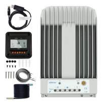 Temank EPEVER MPPT Charge Controller 40A 12V / 24V Auto, Solar Charge Controller 150V PV Negative Grounded Solar Regulator for Gel Sealed Flooded Battery(Tracer 4215BN)