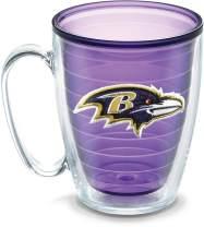 Tervis 1086039 NFL Baltimore Ravens Emblem Individual Mug, 16 oz, Amethyst