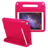 Fintie Case with Pencil Holder for iPad 6th Generation - Kiddie Series Light Weight Shock Proof Impact Resistant Bumper Kids Friendly Protective Stand Cover for iPad 2018 9.7 Inch Tablet, Magenta