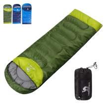 CAMEL CROWN Camping Sleeping Bag- Envelope Lightweight Portable Waterproof Women/Men's Sleeping Bag for Hiking Backpacking Traveling Outdoor Activities