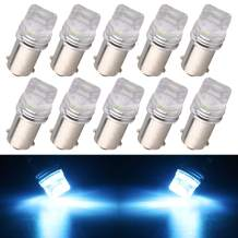 EverBrightt 5630 Chipset BA9S T4W Led Interior Lights Replacement for Pinball Machine Bulbs Toy Car Flashlight Lamps DC 6V 6.3V Ice Blue Pack of 10