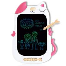 QISHI YUHUA Gifts for Girls Boys LCD Writing Tablet 8.5 Inch,Colorful Doodle Board Drawing Board, Birthday Present for 2-6 Years Old Girl, Perfect Gifts for Little Kids - Pink Cat