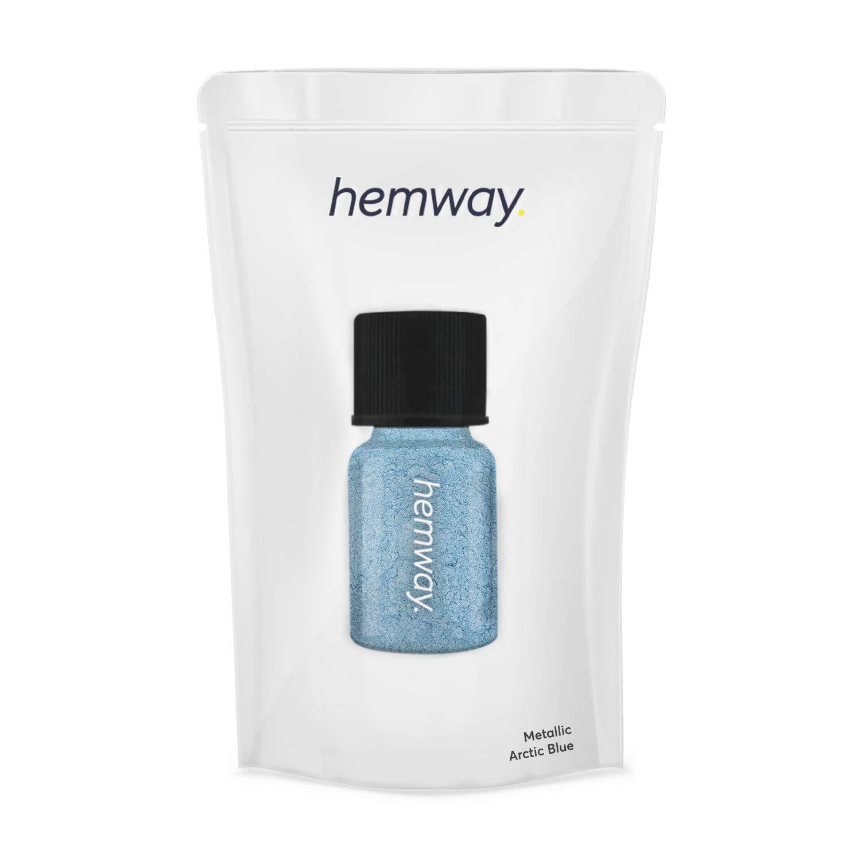 Hemway Pigment Powder Tube Premium Gel Nail Lip Gloss Dust Art Makeup Eyeshadow Face Body Eye Cosmetic Safe UV - 3.9g / 0.15oz - (Metallic Arctic Blue)