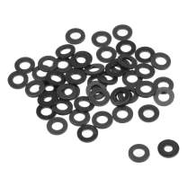uxcell Nylon Flat Washers for M4 Screw Bolt 8mm OD 1mm Thick 50PCS