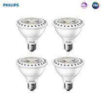 Philips LED Dimmable PAR30S 35-Degree Spot Light Bulb: 750-Lumen, 3000-Kelvin, 8-Watt (75-Watt Equivalent), E26 Base, Bright White, 4-Pack