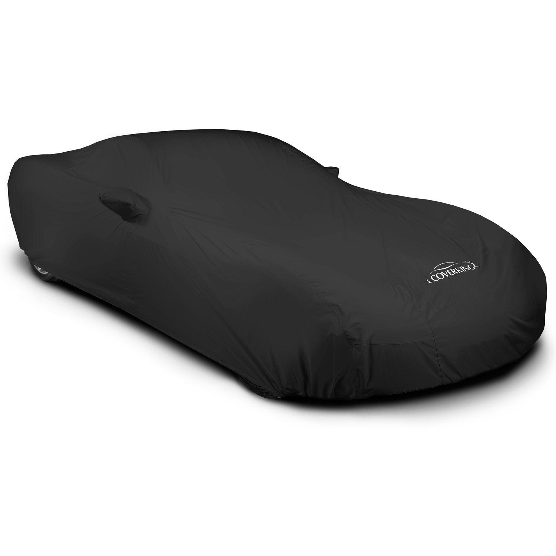 Coverking Custom Car Cover for Select Chevrolet Corvette Models - Stormproof Solid (Black)