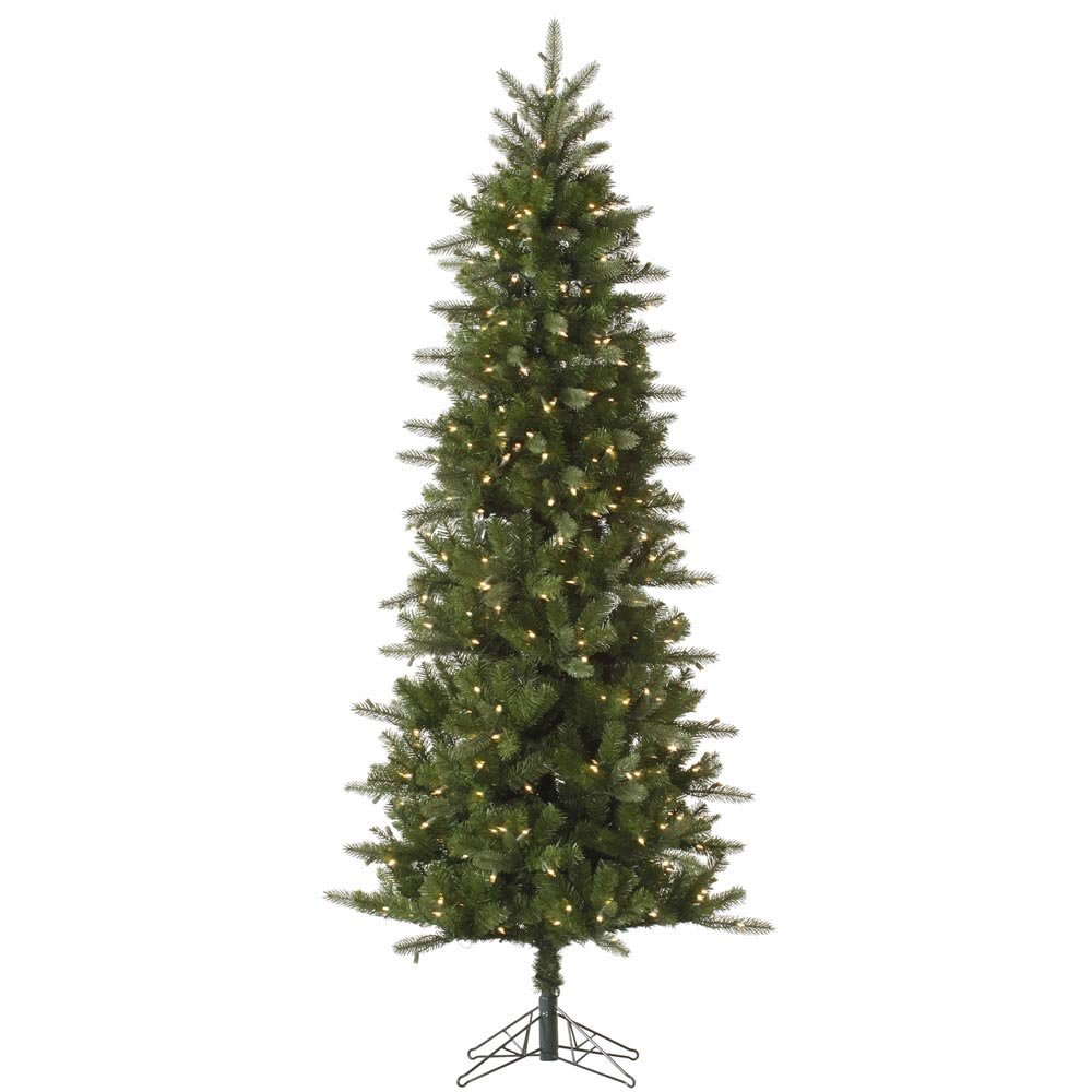 Vickerman Pre-Lit Carolina Pencil Spruce Tree with 200 Clear Dura-Lit Lights, 4.5-Feet, Green