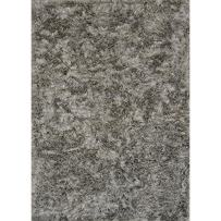 "Loloi Rugs, London Shag Collection - Silver Area Rug, 9'3"" x 13'"