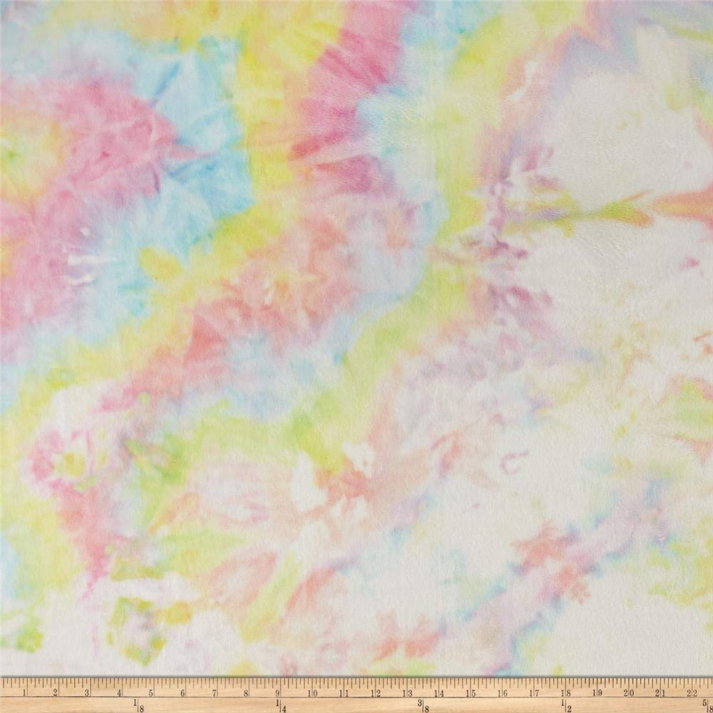 Shannon Fabrics Minky Cuddle Tie Dye Fabric by The Yard, Pastel