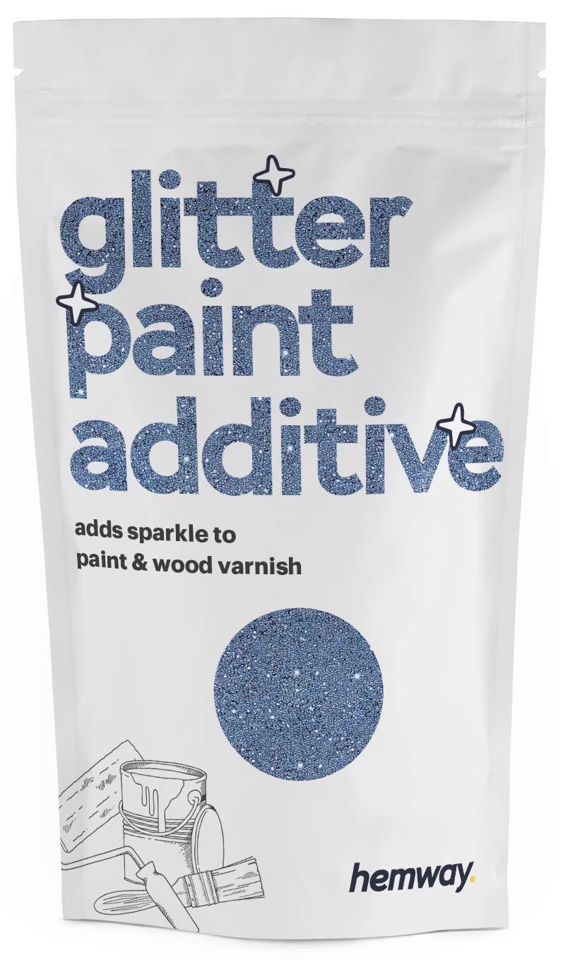 Hemway | Glitter Paint Additive for Emulsion/Acrylic Water Based Paints 100g (Azure)