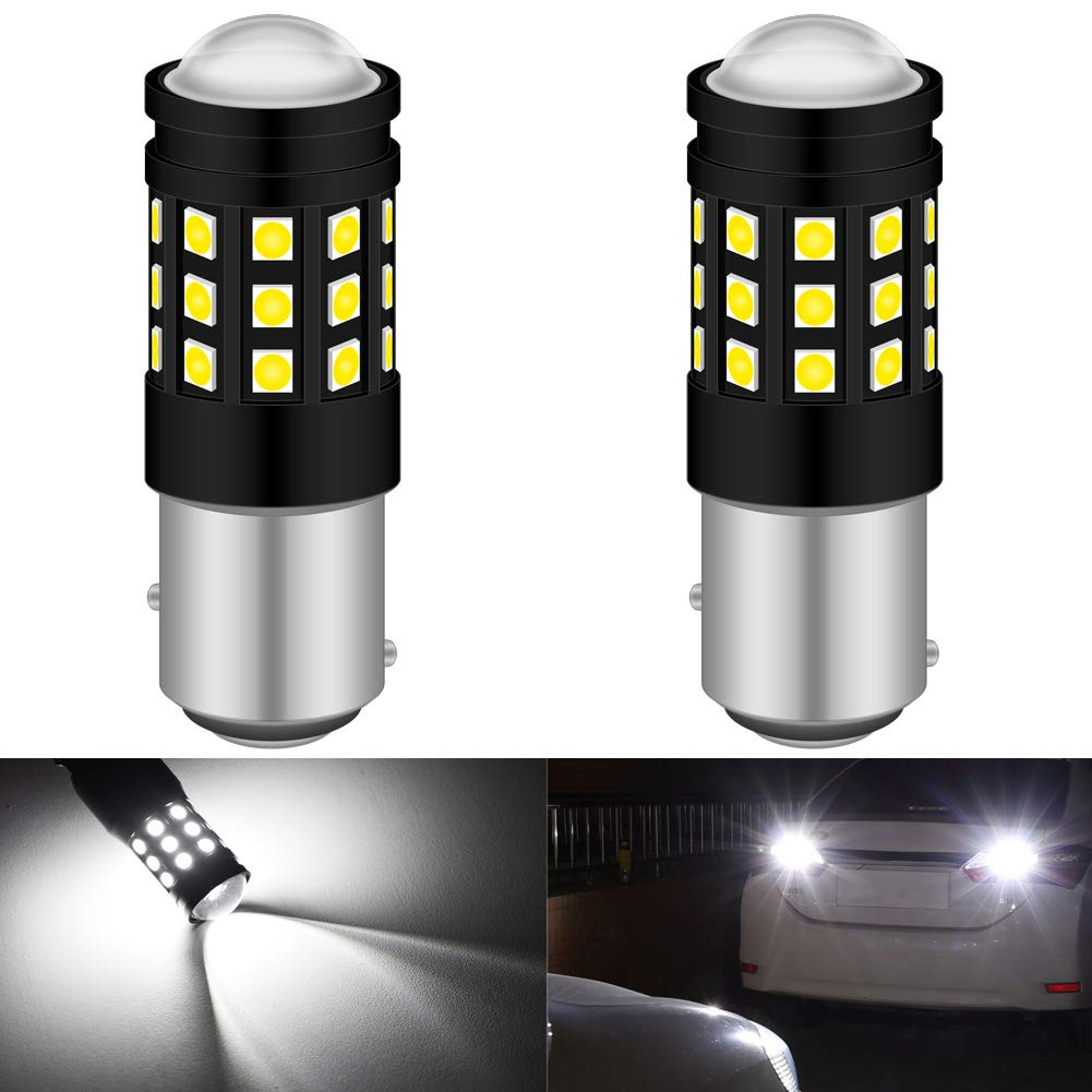 KATUR 1157 BAY15D 7528 1016 LED Bulb High Power 3030 Chips Extremely Bright 2700 Lumens Replace for Brake Light Turn Signals Bulbs Reverse Tail Lights,6500K Xenon White (Pack of 2)
