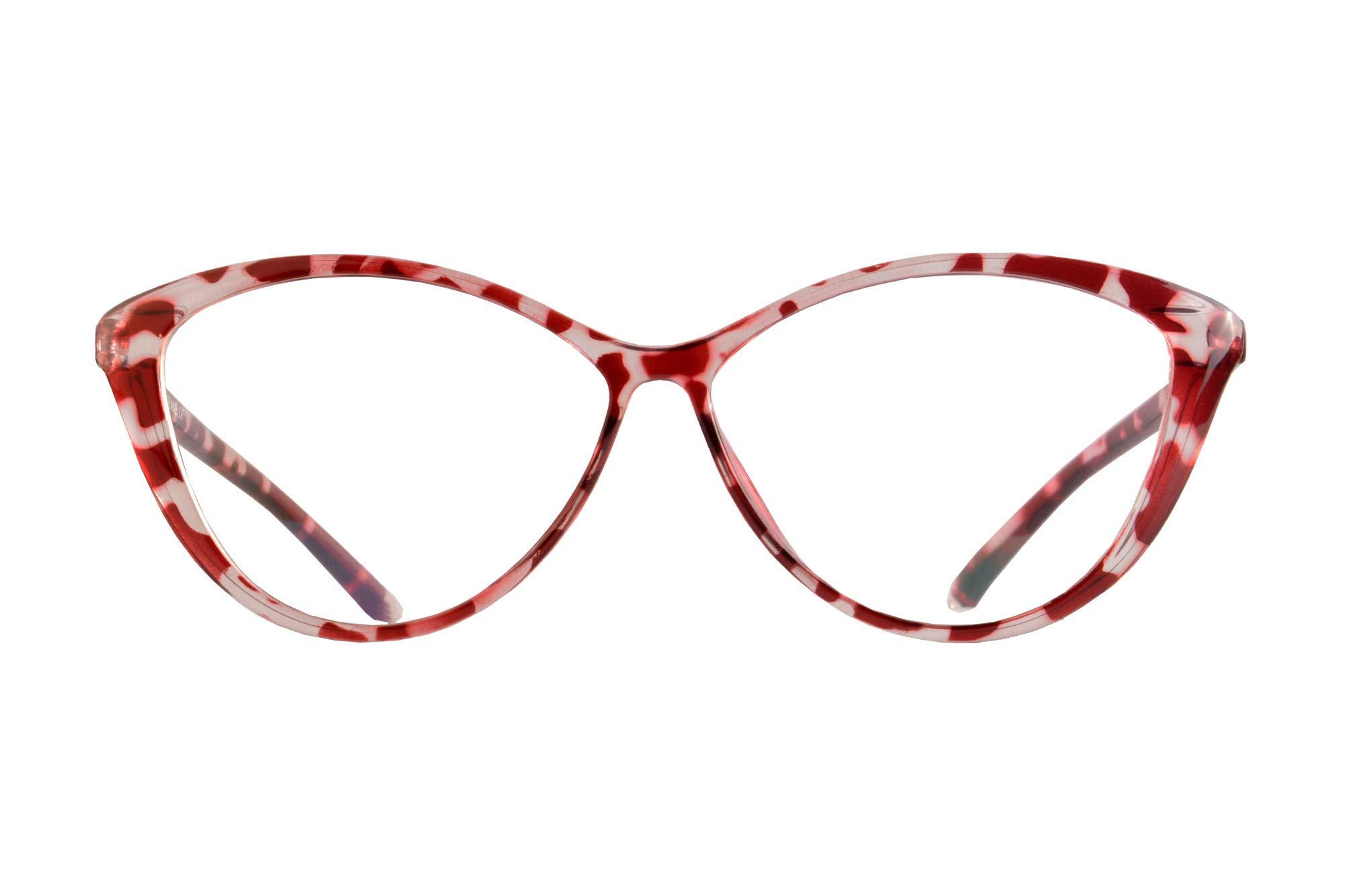 SHINU Women's Frame TR90 Customized Progressive Multifocus Computer Reading Glasses-M5865