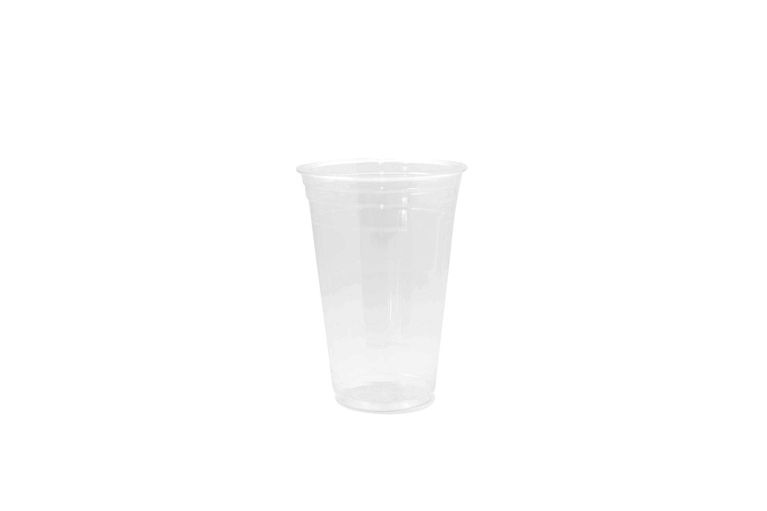 [200 COUNT] 20oz Clear Plastic Disposable Cups - Premium 20 oz (ounces) Crystal Clear PET Cup (No Lids) for Cold Drinks Iced Coffee Tea Juices Smoothies Slush Soda Cocktails Beer Sundae Kids Safe