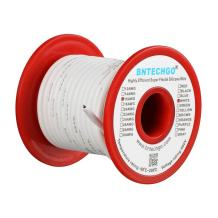 BNTECHGO 16 Gauge Silicone wire spool 25 ft White Flexible 16 AWG Stranded Tinned Copper Wire