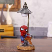 Spiderman Resin Ornament Toys for Children/Home Decoration Birthday Gift Super Hero Spiderman Mini Night Light (Spiderman-B)¡