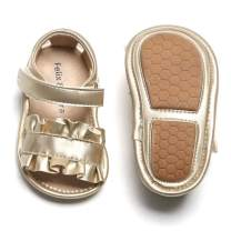 Felix & Flora Baby Toddler Girl Sandals - Baby Walking Shoes Summer Princess Newbron Dress Shoes