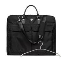 BAGSMART Garment Bag for Travel Suit Bag with Shoulder Strap for Dresses and Suits, Black